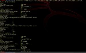 slowhttptest ----- Linux下的DDOS工具